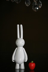 Apple and Sir Issac Bunnyton (The Dolly Mama) Tags: bunny apple toys doll whimsical petitlapin toytuesandthurs2010 2toytuesandthurs