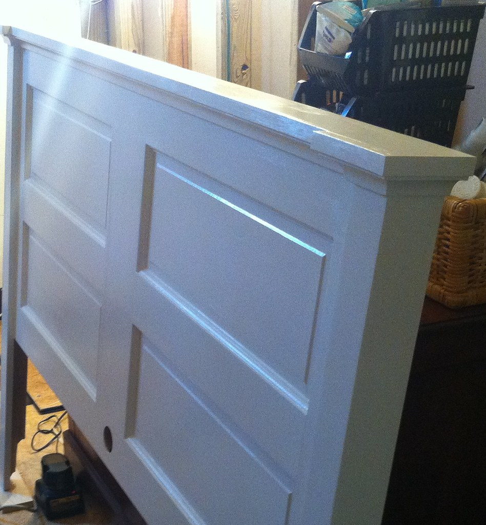 Five Panel Door Headboard Opportunity Knocks Transforming An Old Door Into A Headboard
