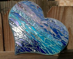 With Hope (Jess ..Color Me Creative Art) Tags: blue color art beach glass atc texas heart mosaic mosaics stainedglass tg milli temperedglass mosaicchallenge