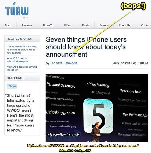 TUAW Typo