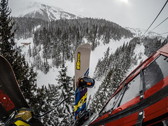 Sunshine Village Gondola (patrickmcelwee1) Tags: snowboarding canada banff alberta winter snow sunshinevillage sunshine village gopro hero5 goprohero5 black gondola trees