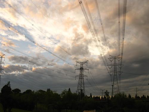 夕阳与雨云