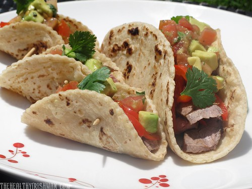 Grilled Steak Tacos with Smashed Avocado