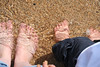 5 July 2009 (Copperhobnob) Tags: sea sun feet beach water season sand toes northsea ripples thisone paddling babychild qualitytime stcombsbeach bloodyhellthewateriscold