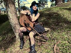 Happy Rock Day (marimoon) Tags: blue colors look fashion rock hair guitar makeup style eyeliner marimoon fernandocoelho
