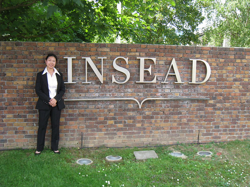 Me at the INSEAD campus in Fontainebleau, on graduation day