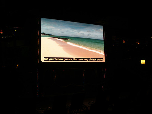 Lido Deck TV at Night (Carnival Splendor)