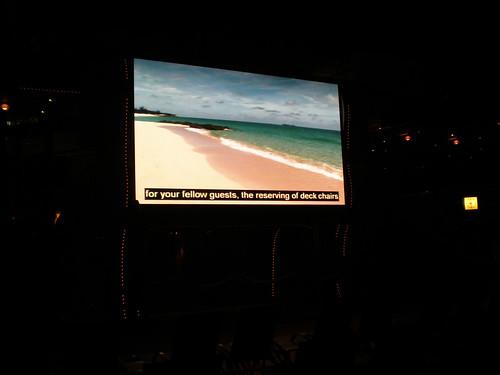 Lido Deck TV at Night (Carnival Splendor)