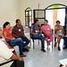 Discutiendo las respuestas - izd a derch -Fortino y Estela García, Daniela Jiménez y Alfredo Álvarez, Jesús Toscano y Nadia Ceballos, Pina Rivera y Raúl Espinoza