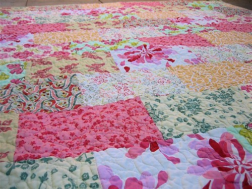 Up Close of Free Motion Quilting