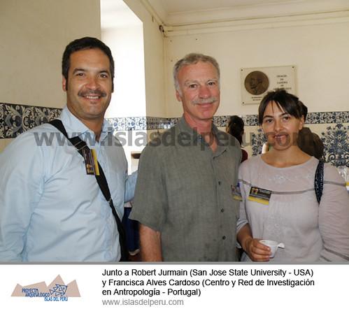 Junto a Robert Jurmain (San Jose State University - USA) y Francisca Alves Cardoso (Centro y Red de Investigación en Antropología - Portugal)