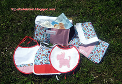handmade baby shower gift set