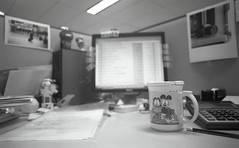 my work desk (Vincentli*) Tags: film tmax 400 24mm angenieux f35 exaktavx