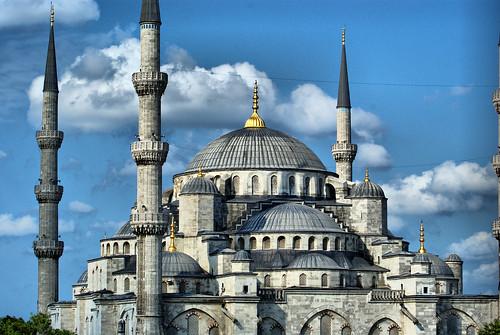 フリー画像| 人工風景| 建造物/建築物| モスク| スルタンアフメト・モスク/ブルーモスク| 世界遺産/ユネスコ| トルコ風景| イスタンブール|    フリー素材|