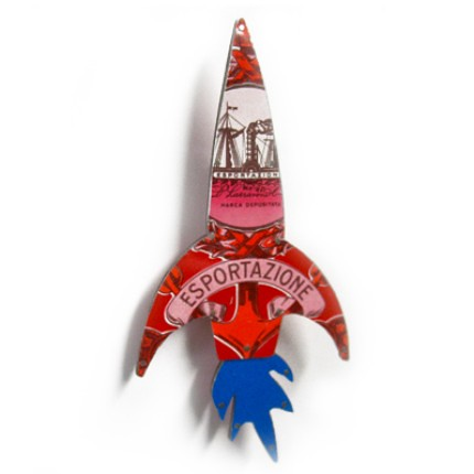 junk retro rocket pin
