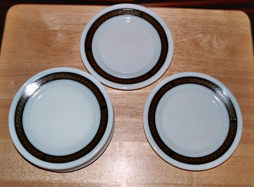 Ebony Bread and Butter Plates