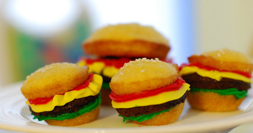 Mini-Hamburger Cupcakes