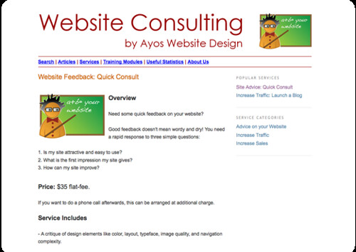 Services to Improve Your Internet Sales- Website Feedback- Quick Consult