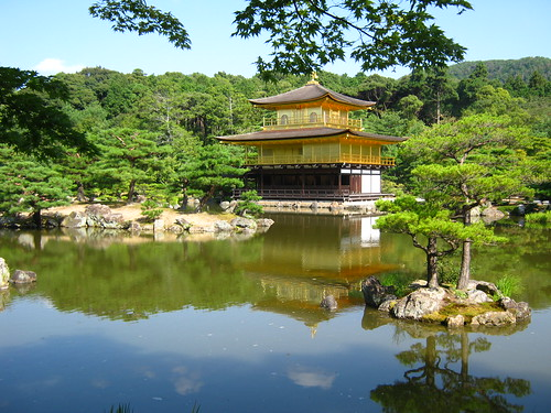 Kinkaku-ji is beautiful in the morning sun.