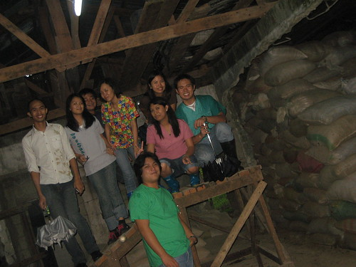 The group inside the barn.