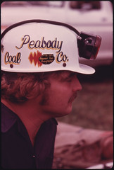 Closeup of a Member of the Peabody Coal Company Team That Is Competing in the Kentucky State Mine Safety Contest at Benham near Cumberland 10/1974
