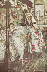 Arthur Rackham - Aesop's Fables - Venus and the Cat (moonflygirl) Tags: illustration book illustrated illustrator fable aesopsfables vintagechildrensbooks arthurrackham