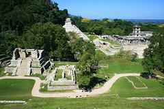 The Jaguar Sun (ytulauratambien) Tags: mexico mesoamerica ruins maya jungle mayanarchitecture temples palenque archeology chiapas basrelief roofcomb usumacintariver pacalthegreattumbalámountains