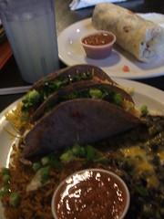 Tacos and burrito