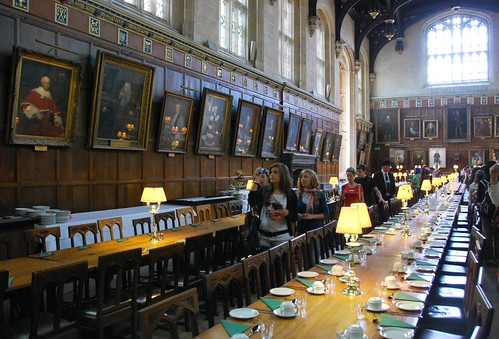 banquet hall in christ church college, oxford