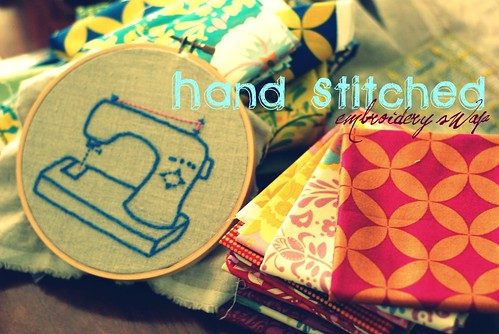 Hand Stitched button by ariel quilts.