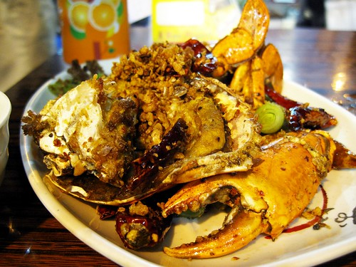 spicy crabs @ temple street