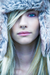 Winter Time (drifs) Tags: lighting winter light woman cold nature girl hat fashion model women modeling girly hiver femme flash makeup chapeau hype tatoo fille froid maquillage strobe eclairage modele tatouage ehrhardt chapka drifs strobiste