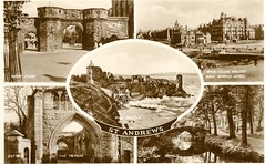 St Andrews Multi View Valentine's Real Photo 1940