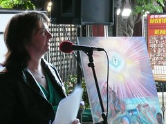 Tracy Repchuk at AFABW Poetry Reading