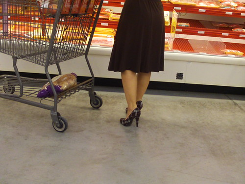 shopping in heels