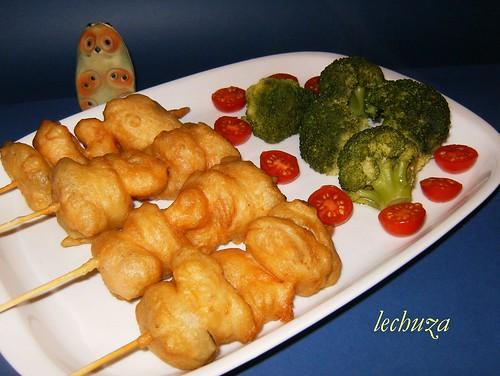 Pinchos tempura- hechos