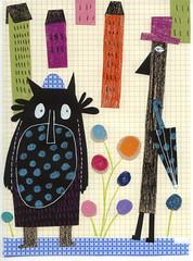 les monstres sont de sortie (Mlaminebonnemine) Tags: illustration children pastel dessin draw enfant color personnage imaginaire mlaminebonnemine