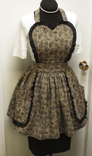custom leopard apron