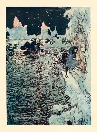 021-Los siete cuervos- Snowdrop & other tales 1920- Grimm-Ilustrada por Rackham