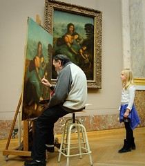 Generations (Luciano_SR) Tags: old man paris girl museum painting observation nikon artist child d70 louvre young observe painter copy topaint 18200mmvr