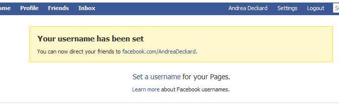 Facebook Post - Vanity URL