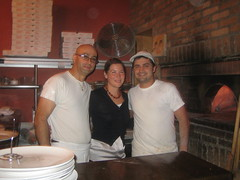 Bad photo of me and the cooks at No. 28.