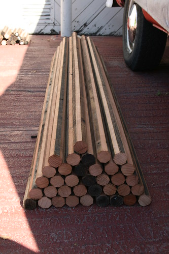 Yurt Poles Cut to 6ft