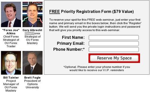 Forex Mastery Webinar Signup