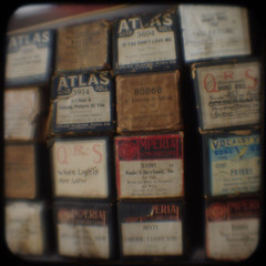 Piano rolls (Area Bridges) Tags: paper square pentax connecticut southport playerpiano ttv argus75 throughtheviewfinder pianoroll k200d areabridges