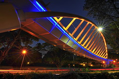 Alexandra Arch, Singapore (Thumbdrive) Tags: singapore footbridge bluehour ledlights forestwalk alexandraroad uniquelysingapore nikond300 southernridges tokina1116 alexandraarch nikonflickrawardgold alexandreaarc yourssingapore