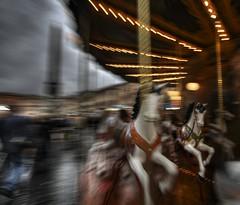Little horse on merry go round in Piazza Navona, Rome (Antnio Alfarroba) Tags: light sky horse rome color roma luz speed turn dark movement solitude negro cu obelisk lamps merrygoround obelisco piazzanavona cor cavalo escuro solido lmpadas rodar arrastamento carrocel carroucel