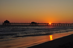 Huntington Beach pier...California! (Claudio Ferrero Photographer) Tags: california sunset sea sun pier photo orangecounty claudio oc huntingtonbeach ferrero goldenstate