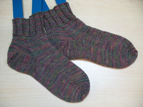 Thick & Shiny ribbed socks
