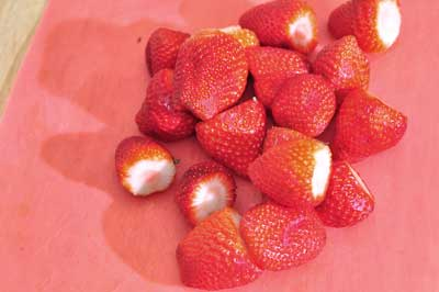 whole strawberries for fruit salad